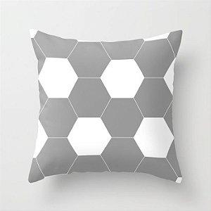 Capa de almofada Bola de futebol cinza