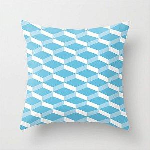 Capa de almofada 3D Azul Turquesa