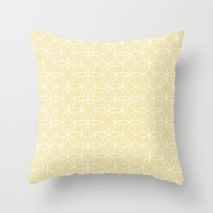 Capa de almofada Lotus Amarelo Bebê