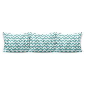 Kit almofadões para cama Chevron Tiffany