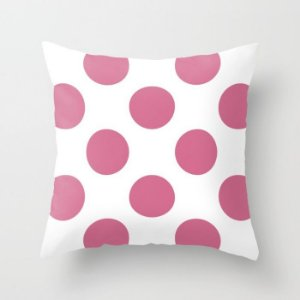 Capa de almofada Bolas Rosa Chiclete