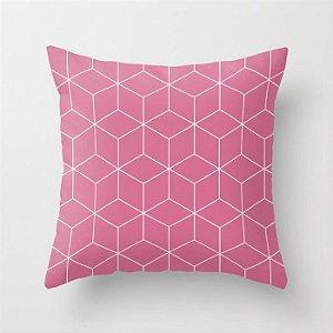 Capa de almofada Cubos Rosa Chiclete