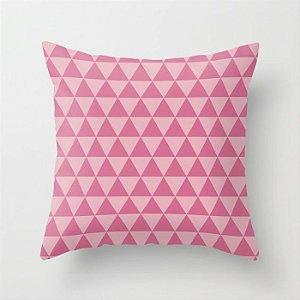 Capa de almofada Triângulos Rosa Chiclete