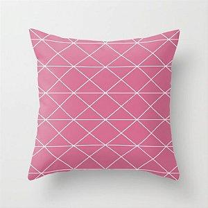 Capa de almofada Prisma Rosa Chiclete
