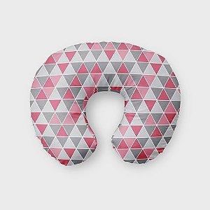 Almofada de amamentação Tri cinza e rosa