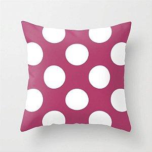 Capa de almofada Rosa Escuro com Bolas