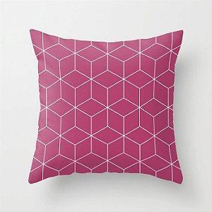 Capa de almofada Cubes Rosa Escuro