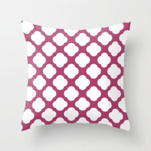 Capa de almofada Cute Rosa Escuro