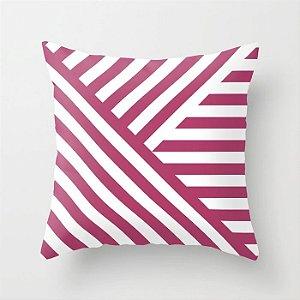 Capa de almofada Geometric Rosa Escuro