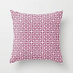 Capa de almofada Greek Rosa Escuro