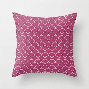 Capa de almofada Escamas Rosa Escuro