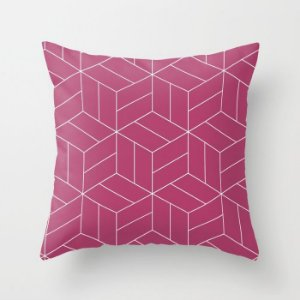 Capa de almofada Umi Rosa Escuro