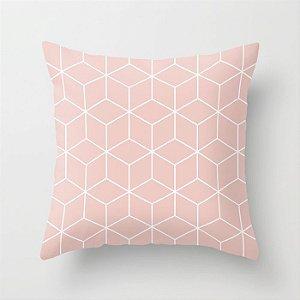 Capa de almofada Cubes Rosa Quartzo