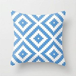Capa de almofada Aztec Azul Céu