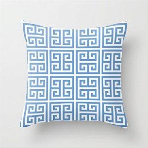 Capa de almofada Greek Azul Céu