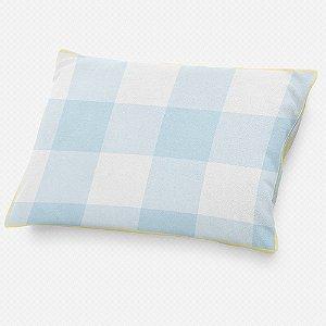 Almofada de cabeceira Xadrez Azul Bebê