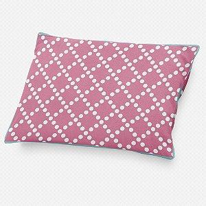 Almofada de cabeceira Pearl Rosa Chiclete