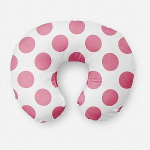 Almofada de amamentação Bolas Rosa Chiclete