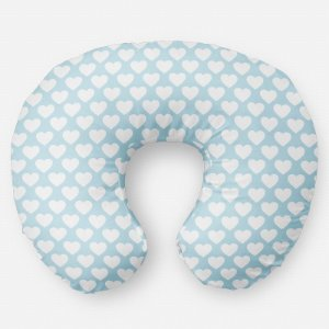 Almofada de amamentação Corações Azul Bebê