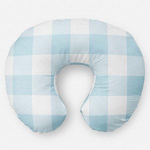 Almofada de amamentação Xadrez Azul Bebê