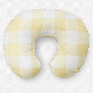 Almofada de amamentação Xadrez Amarelo Bebê