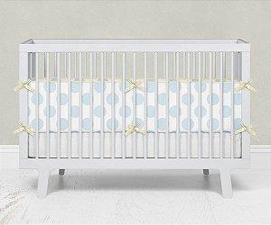 Lateral de berço em espuma Bolas Azul Bebê
