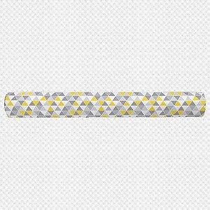 Rolo lateral para berço Tri Cinza e Amarelo