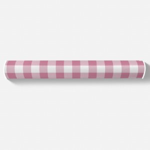 Rolo lateral para berço Xadrez Rosa Chiclete