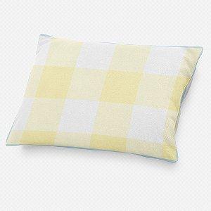 Almofada de cabeceira Xadrez Amarelo Bebê