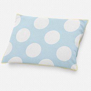 Almofada de cabeceira Azul Bebê com Bolas