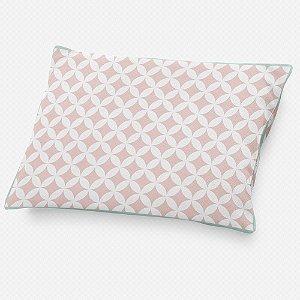 Almofada de cabeceira Circles 2 Rosa Quartzo