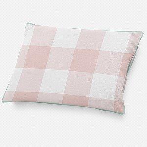 Almofada de cabeceira Xadrez Rosa Quartzo