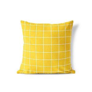 Capa de almofada Quadrados Amarelo