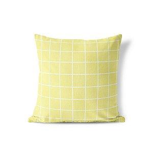 Capa de almofada Quadrados Amarelo Citric