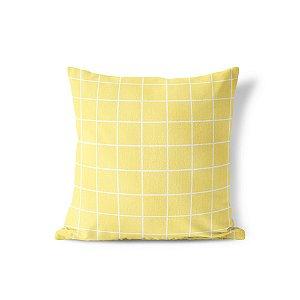Capa de almofada Quadrados Amarelo Colméia