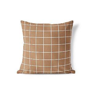 Capa de almofada Quadrados Chocolate
