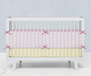 Lateral de berço em espuma Pearl Rosa bebê