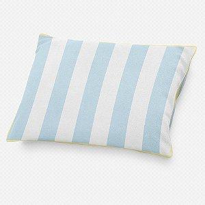 Almofada de cabeceira Listras Azul Bebê