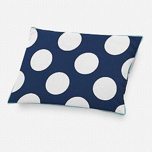 Almofada de cabeceira Azul Marinho com Bolas