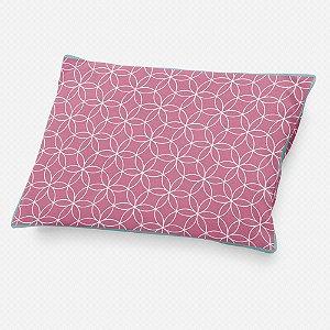 Almofada de cabeceira Lotus Rosa Chiclete
