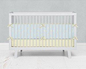 Lateral de berço em espuma Azul bebê com Estrelas 2