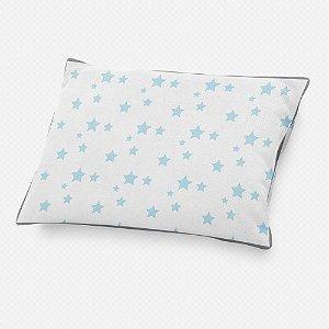 Almofada de cabeceira Estrelas Azul Bebê