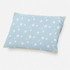 Almofada de cabeceira Azul Bebê com Estrelas