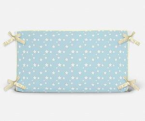 Cabeceira em espuma Azul Bebê com Estrelas