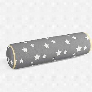 Rolo peseira Cinza com Estrelas