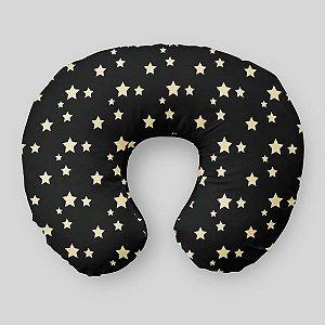 Almofada de amamentação Preta com Estrelas 2
