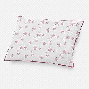 Almofada de cabeceira Estrelas Rosa bebê