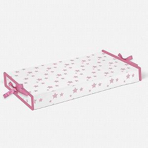 Trocador Estrelas Rosa Bebê