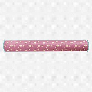 Rolo lateral para berço Rosa Chiclete com Estrelas 2