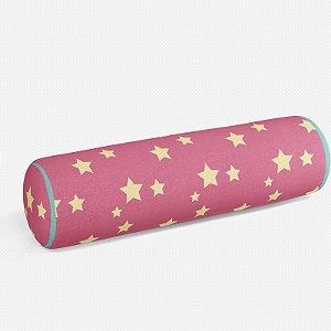 Rolo peseira Rosa Chiclete com Estrelas 2
